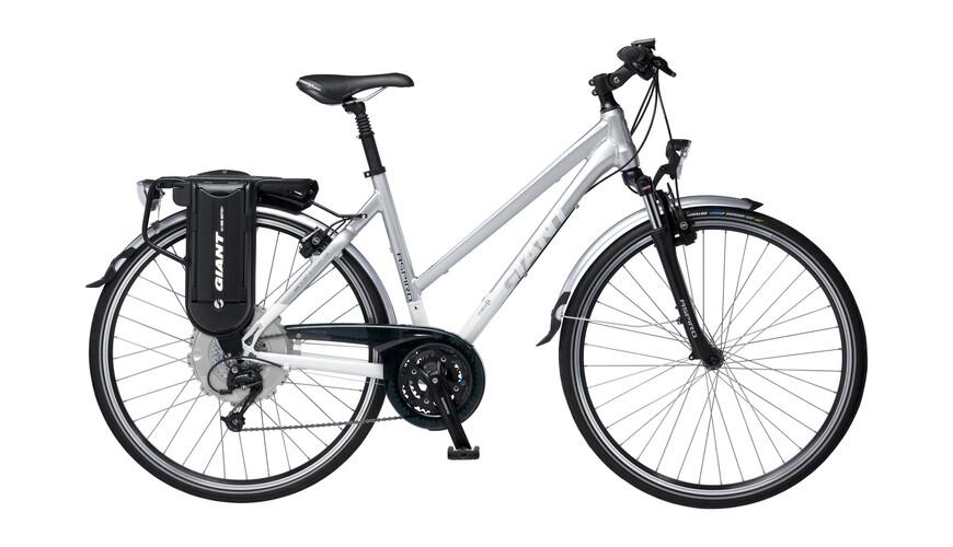 Giant Aspiro Hybrid 1 Elcykel Damer STA grå/hvid | Find cykeltilbehør på nettet | Bikester.dk